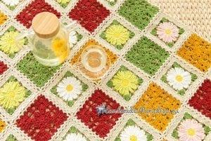 Çiçekli Bebek Battaniyesi Yapılışı 6