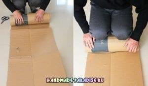 Karton ve Kottan Puf Yapımı
