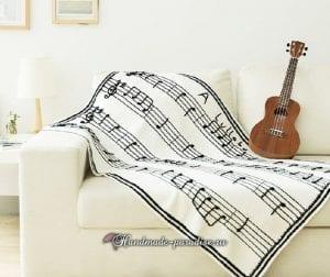 Müzik Notalı Battaniye Yapılışı