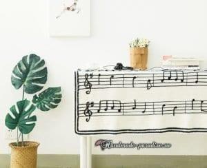 Müzik Notalı Battaniye Yapılışı 2