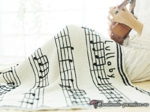 Müzik Notalı Battaniye Yapılışı 4