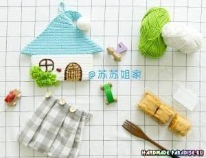 Örgü Ev Havlu Askısı 9