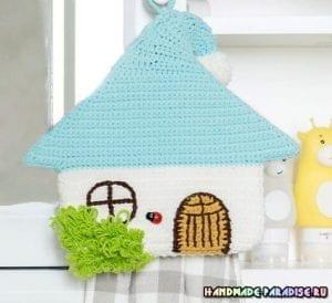 Örgü Ev Havlu Askısı 3