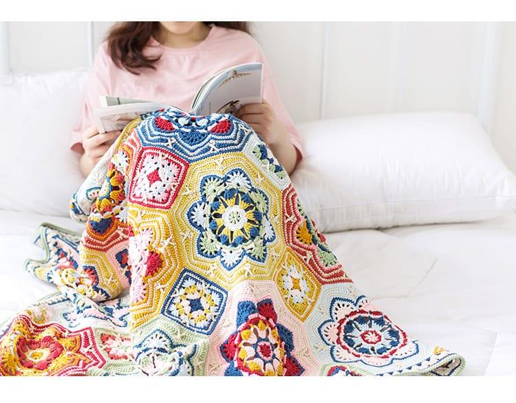 Renkli Battaniye Yapılışı 24