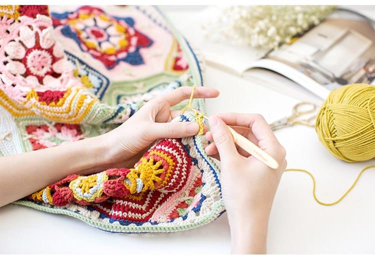 Renkli Battaniye Yapılışı 8