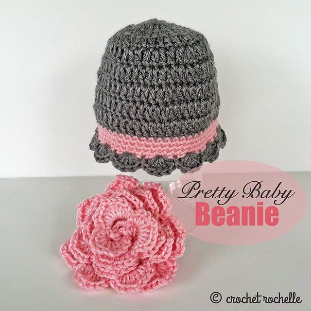 Tığ İşi Bebek Şapka Modelleri 12