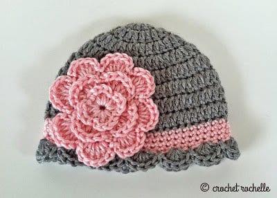 Tığ İşi Bebek Şapka Modelleri 14