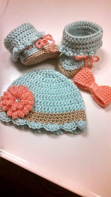 Tığ İşi Bebek Şapka Modelleri 15