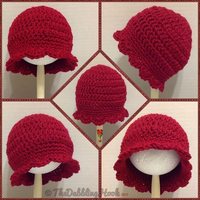 Tığ İşi Bebek Şapka Modelleri 4