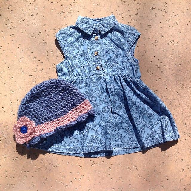 Tığ İşi Bebek Şapka Modelleri 6