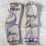Çoraptan Fil Yapımı 7