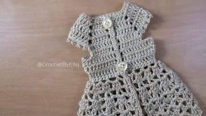 Dantelli Örgü Elbise Yapılışı 2