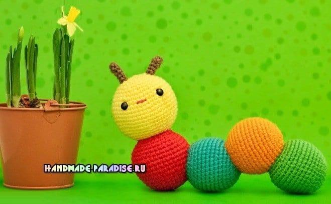 Amigurumi Örgü Oyuncak Modelleri – Amigurumi Büyük Boy Tırtıl ... | 408x659