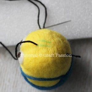 Keçe İğneleme Minion Yapımı 10