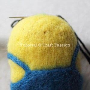Keçe İğneleme Minion Yapımı 11