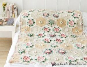 Çiçek Bahçesi Battaniye Yapımı 1