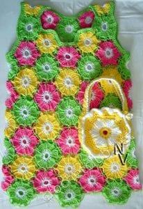 Çiçekli Kız Çocuk Elbisesi 3