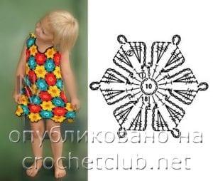 Çiçekli Kız Çocuk Elbisesi 5