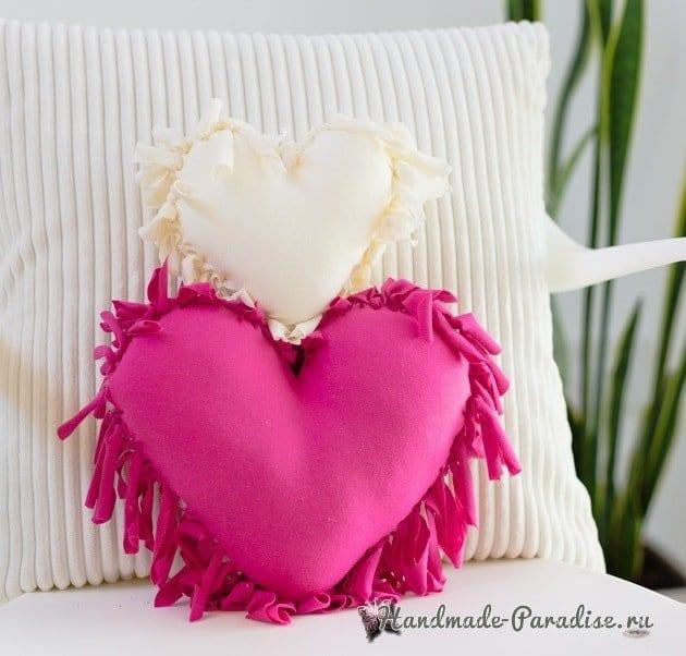 Eski Tişörtten Kalp Yastık Yapımı Mimuucom