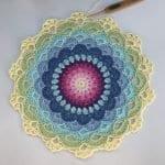 Zambak Örgü Mandala Yapılışı 17