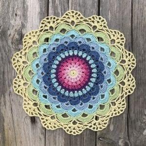 Zambak Örgü Mandala Yapılışı 7