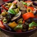 Zeytinli Patlıcan Yemeği Yapılışı-yarım