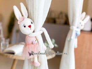 Amigurumi Perde Tutucu Tavşan 2