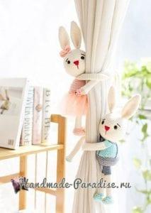 Amigurumi Perde Tutucu Tavşan 3