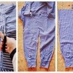 Erkek Gömleğinden Pijama ve Etek Yapılışı 1