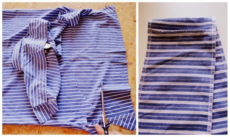 Erkek Gömleğinden Pijama ve Etek Yapılışı 2