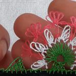 İğne Oyası Çiçek Yapımı