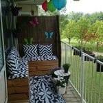 Küçük Balkon Dekorasyonu İçin Örnekler 17