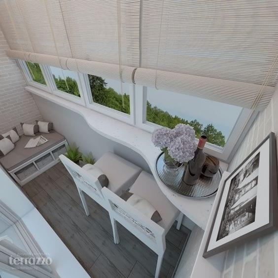 Küçük Balkon Dekorasyonu İçin Örnekler 19