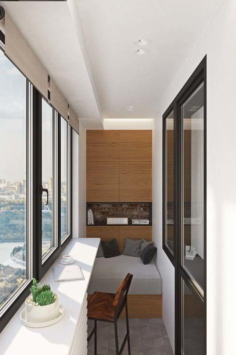 Küçük Balkon Dekorasyonu İçin Örnekler 45