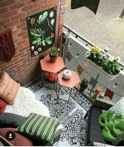 Küçük Balkon Dekorasyonu İçin Örnekler