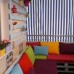 Küçük Balkon Dekorasyonu İçin Örnekler 60