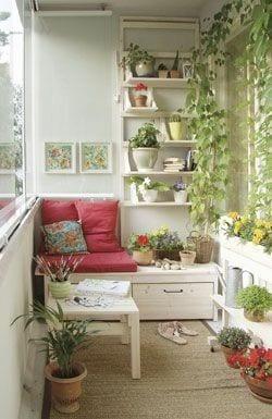 Küçük Balkon Dekorasyonu İçin Örnekler 76