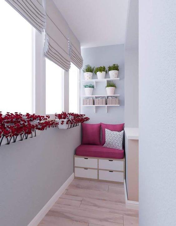 Küçük Balkon Dekorasyonu İçin Örnekler 82