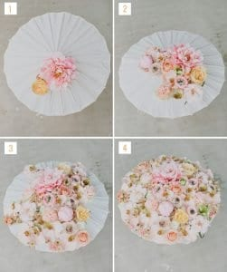 Çiçekli Şemsiye Yapılışı 9