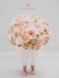 Çiçekli Şemsiye Yapılışı 10