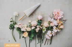 Çiçekli Şemsiye Yapılışı 8