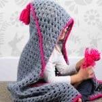 Kapşonlu Bebek Battaniyesi Yapılışı 13