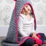 Kapşonlu Bebek Battaniyesi Yapılışı 14