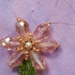 Kristal Boncuklu Çiçekli Kolye 18
