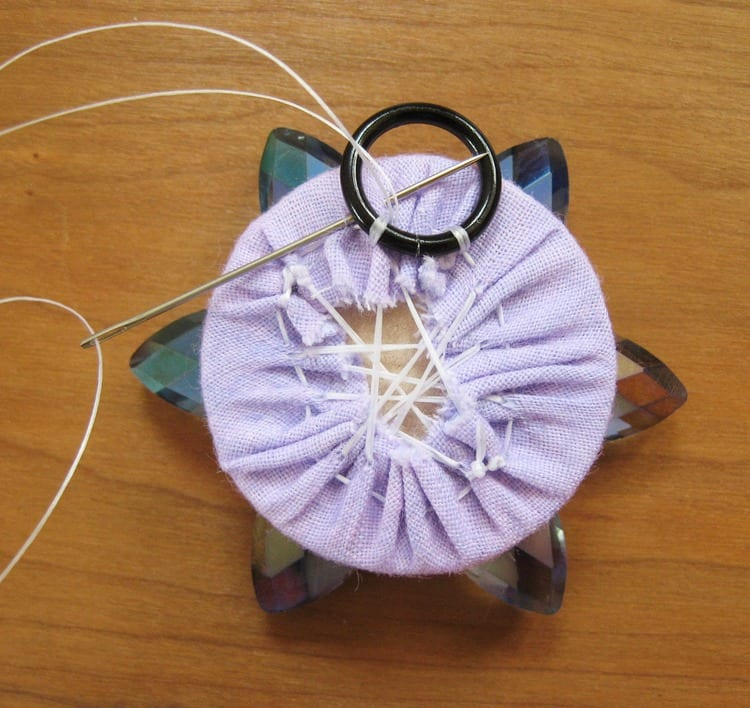 Kristal Boncuklu Çiçekli Kolye 48
