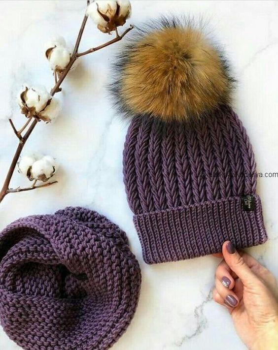 Örgü Atkı Şapka Modelleri 142