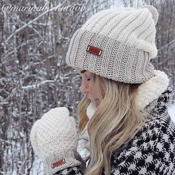 Örgü Atkı Şapka Modelleri 98