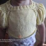 Yakadan Başlama Örgü Çocuk Elbisesi 67