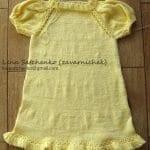 Yakadan Başlama Örgü Çocuk Elbisesi 75