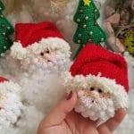 Amigurumi Noel Baba Anahtarlık 1